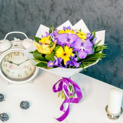 Buchet Mix Galben-Violet