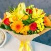 Buchet Mix Galben-Rosu-Orange